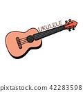 Concert Ukulele - Hawaiian string musical instrument 42283598