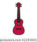 Concert Ukulele - Hawaiian string musical instrument 42283603