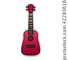 Concert Ukulele - Hawaiian string musical instrument 42283616