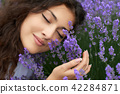 woman young lavender 42284871