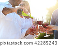 People at wine outdoor party 42285243