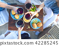 Summer picnic with red wine 42285245
