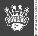 logo vector bowling 42286613