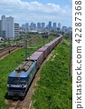 EF 210-309 container freight train captured from Kashima land bridge 42287368
