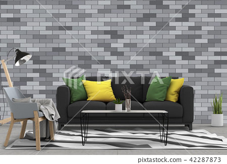 interior design for living area or reception with  42287873