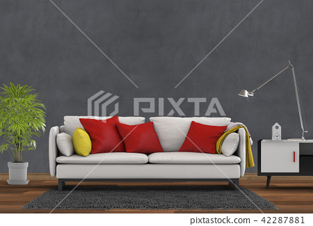 Living room interior in modern style, 3d render 42287881