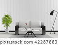 Living room interior in modern style, 3d render 42287883