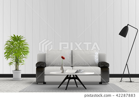 Living room interior in modern style, 3d render 42287883