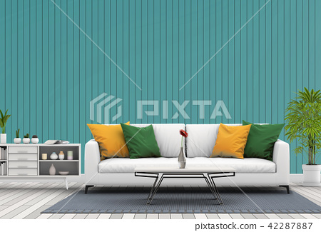 Living room interior in modern style, 3d render 42287887