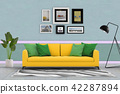 Living room interior in modern style, 3d render 42287894