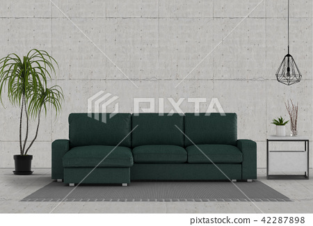 Living room interior in modern style, 3d render 42287898