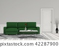 Living room interior in modern style, 3d render 42287900