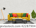 Living room interior in modern style, 3d render 42287904