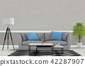 Living room interior in modern style, 3d render 42287907