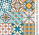 colorful, decorative tile pattern patchwork design 42289412