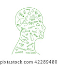 Ecology friendly and think green with doodle icons 42289480