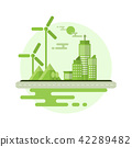 Ecology friendly and Green city with flat design 42289482