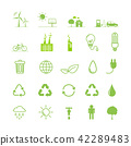 Ecology icons set, Vector illustration 42289483
