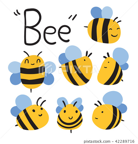 bee vector collection design 42289716