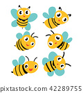 bee vector collection design 42289755