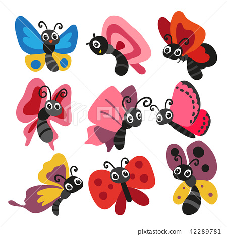 butterfly character vector design 42289781