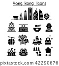 Hong kong icon set 42290676