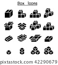 Box icon set 42290679