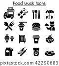 Food truck icon set 42290683