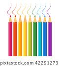 set of color pencils 42291273