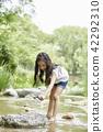 夏天,公園,孩子,孩子,野餐,散步,郊遊,森林,度假,度假 42292310