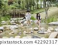 夏天,公園,孩子,孩子,野餐,散步,郊遊,森林,度假,度假 42292317