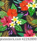backgrounds seamless hibiscus 42292890