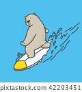 bear vector polar bear surf ocean sea logo 42293451