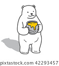 bear polar bear vector honey doodle icon 42293457