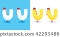 Chicken rooster hen vector illustration character 42293486