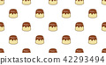 Cake seamless pattern vector pudding caramel 42293494