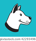 dog vector logo icon head hound bulldog cartoon 42293496