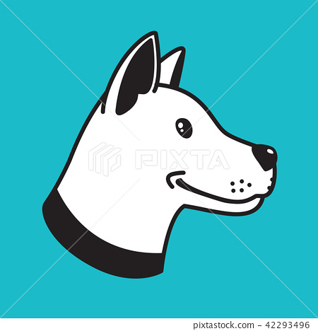 dog vector logo icon head hound bulldog cartoon 42293496