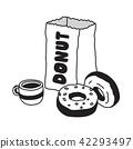 Donut vector icon Coffee logo symbol cartoon 42293497