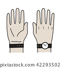 Hand Finger logo icon Vector watch illustration 42293502