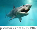 Megalodon scene 3D illustration 42293982