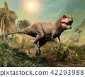 Tyrannosaurus rex scene 3D illustration 42293988