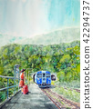 Shimane station alone solo travel youth JR railway painting 42294737