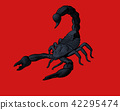 Engraving drawing scorpion illustration 42295474