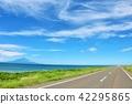 fine, hokkaido, road 42295865