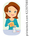 Girl Transfer Product Container Illustration 42297080