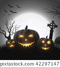 Halloween background with pumpkins 42297147
