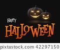 Banner Cartoon Halloween pumpkins 42297150