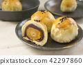 中秋節 傳統 月餅 42297860