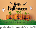 Halloween Party with scary pumpkins 42298628